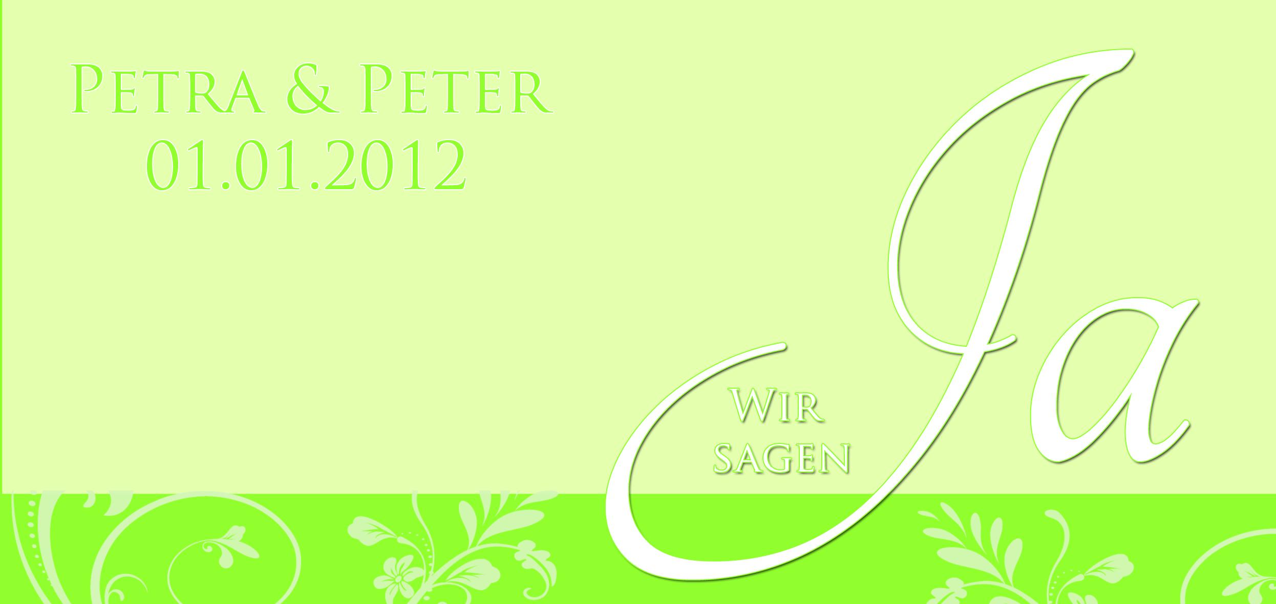 Grüne Hochzeit - Entwurf27